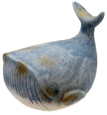 Deko Figur Wal Walfisch Blau  Maritim Tischdeko Kommunion Taufe Kinderzimmer