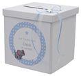 Briefbox Kartenbox Taufe Blau Baby Geburt Tischdeko Personalisiertes Geschenk 3