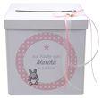 Briefbox Kartenbox Taufe Rosa Baby Geburt Tischdeko Personalisiertes Geschenk 1