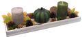 Tablett Herbst Herbstdeko Tischdeko Deko Kerze Kürbis Grün Braun Holz Natur 1