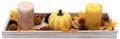 Tablett Herbst Herbstdeko Tischdeko Deko Kerze Kürbis Gelb Holz Natur 2