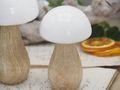 Pilz Holz Weiß Dekofigur Dekopilz Tischdeko Herbst Deko Weihnachten  4