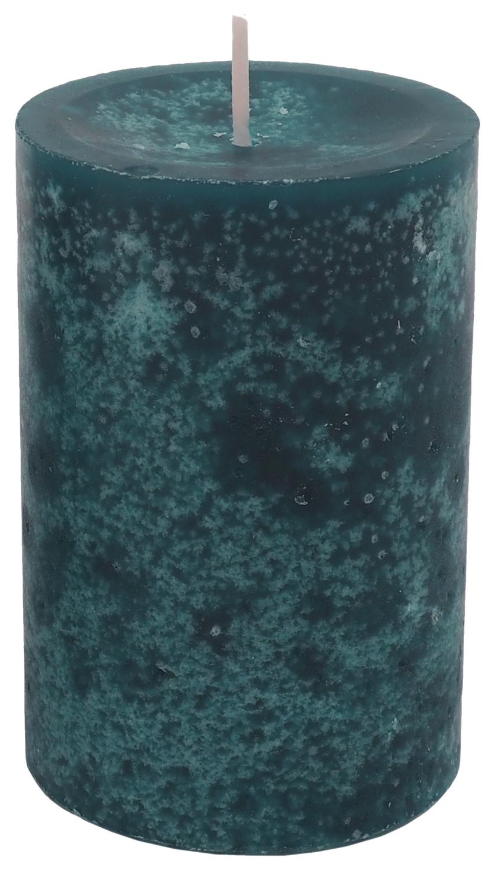 4 Stumpenkerzen Kerzen Blau Petrol Tischdeko Party Deko Adventskerzen