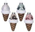 Weihnachtsbaumschmuck Christbaumschmuck Glas Weihnachtsdeko Eis Eiscreme Eiswaffel Eistüte Weihnachten 1