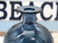Vase Blumenvase Glasvase Ballonvase Blau Tischdeko Maritime Deko 5