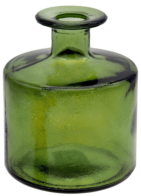 Vase Blumenvase Glasvase Grün Tischdeko Herbstdeko Deko Herbst