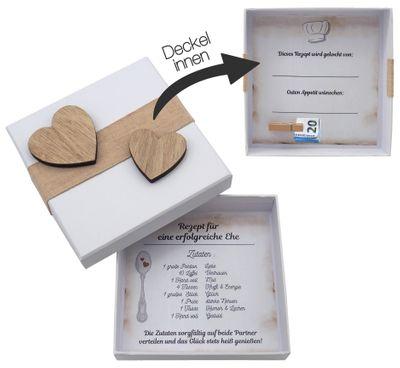 Geldgeschenk Verpackung Hochzeit Gutschein Hochzeitsgeschenk Rezept für eine glückliche Ehe