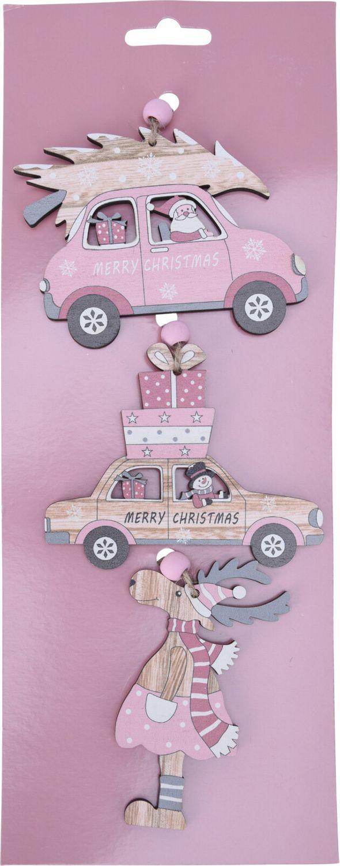 Weihnachtsbaumschmuck Geschenkanhänger Weihnachtsdeko Holz Rosa Anhänger Weihnachten Geschenke Motive 2