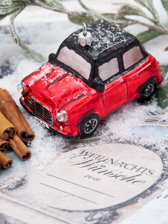 Weihnachtsbaumschmuck Christbaumschmuck Glas Auto Rot Weihnachtsdeko Weihnachten
