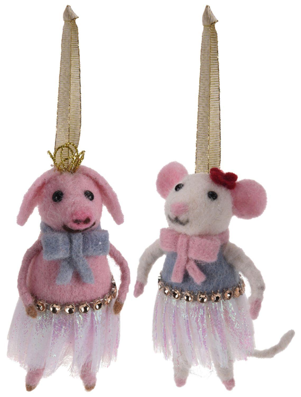 Weihnachtsbaumschmuck Christbaumschmuck Filz Maus Schwein Weihnachtsdeko Weihnachten