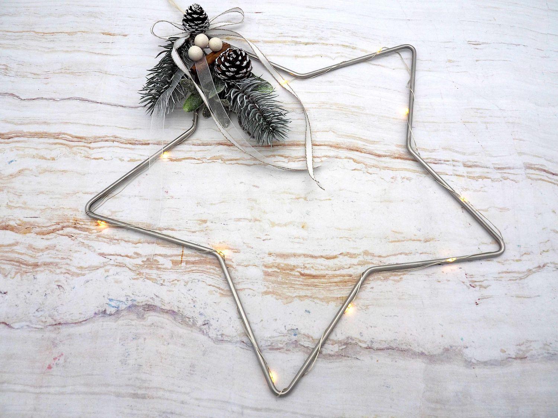 Weihnachtsdeko LED Stern Lichterkette Fensterdeko Wandeko Deko Weihnachten