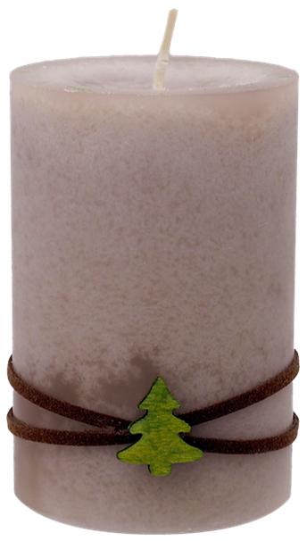 4 Adventskerzen Kerzen Stumpenkerzen Adventskranz Taupe Braun Hirsch Tannenbaum Weihnachten Advent Deko