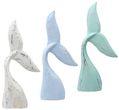 Flosse Meerjungfrau Schwanzflosse Deko Figur Holz Weiß Blau Mint Shabby Maritim Mermaid Kindergeburtstag Tischdeko 1
