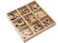 Streuteile Weihnachten Holz Natur Streudeko Holzstreuteile 2-3 cm Basteln Advent Tischdeko 18 Stück BOX 2