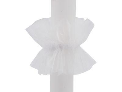 Tropfschutz Kerzenrock Organza Weiß
