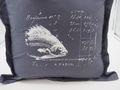 Kissenhülle Anthrazit Fisch 40 x 40 cm Kissenbezug Sofakissen Wohnaccessoire Maritim Deko 3