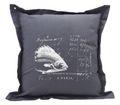 Kissenhülle Anthrazit Fisch 40 x 40 cm Kissenbezug Sofakissen Wohnaccessoire Maritim Deko 1