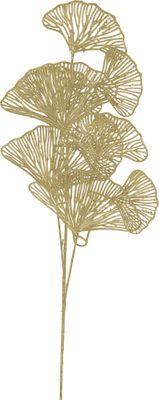 Kunstblume Ginkgo Zweig Blatt Kunstpflanze Gold 73 cm Basteln Wanddekoration Hochzeit Deko