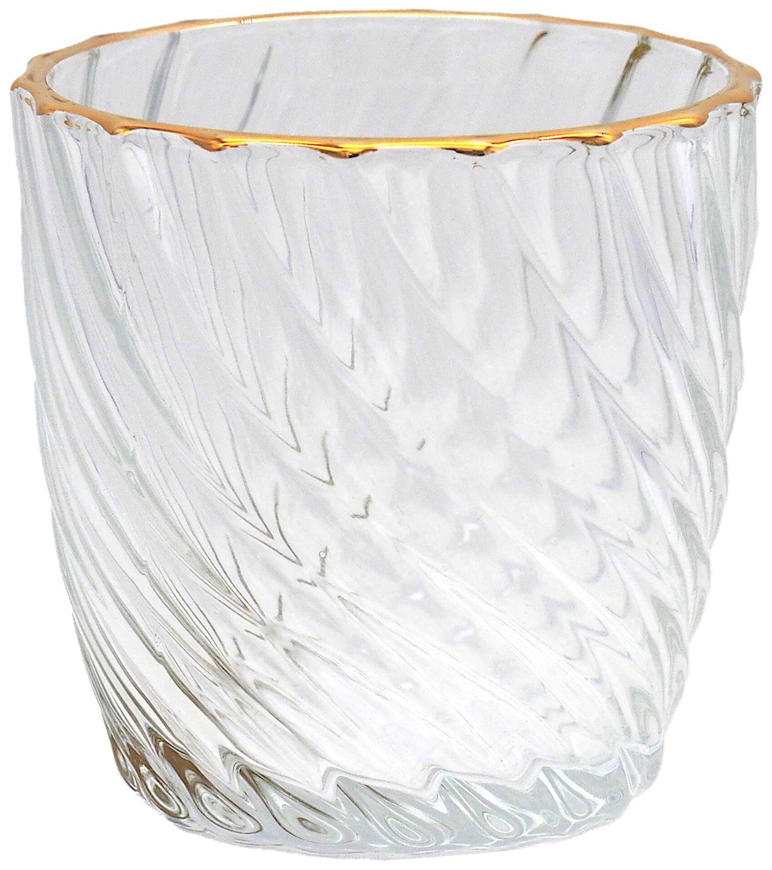 Kerzenhalter Teelichthalter Glas Windlicht Groß Gold Deko Hochzeit Tischdeko 6 Stück