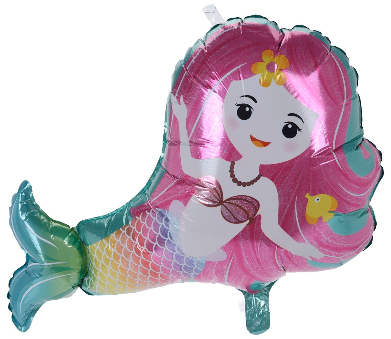 Folienballon Ballon Partydeko Meerjungfrau Blau Pink Kindergeburtstag Deko Luftballon 2 Stück