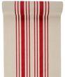 3m Tischläufer Tischband Leinen Baumwolle Streifen Rot Beige Maritim Deko 1