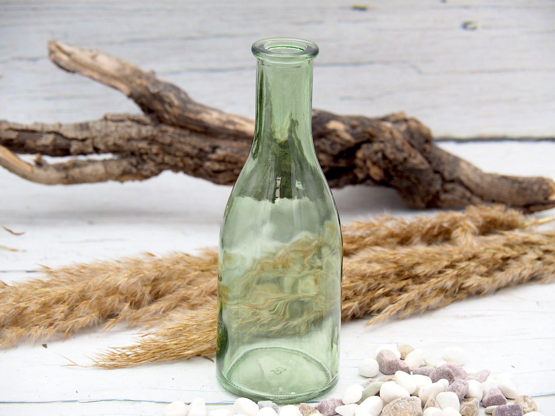 Vase Glas Glasvase Grün Salbei Blumenvase Kommunion Konfirmation Deko