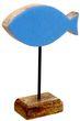 Fisch Aufsteller Holz Hellblau Tischdeko Kommunion Konfirmation Maritim Deko 1