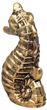 Seepferd Seepferdchen Keramik Gold Vintage Maritim Frühling Sommer Klein 1 Stück 3