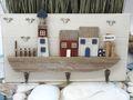 Kleiderhaken Deko Schlüsselbrett Garderobe Beach Küste Leuchtturm Möwe Maritim Sommer 2