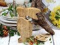 Hase Osterhase Dekofigur Holz Braun Natur Tischdeko Ostern Frühling Sommer 3