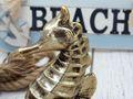 Seepferd Seepferdchen Keramik Gold Vintage Maritim Deko Frühling Sommer Groß 5