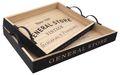 Tablett Holz Groß oder Klein Tischdeko Braun Innen Schwarz Außen