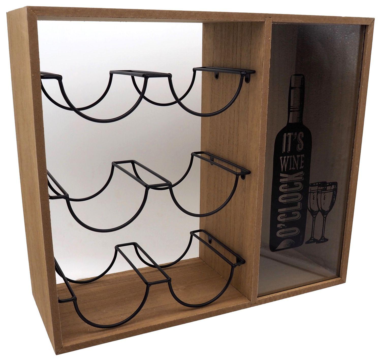 Weinregal Flaschenregal Weinflaschenregal Deko Weinaufbewahrung mit Korken Sammelbehälter