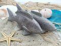 Fisch Deko Figur Silber Grau Weiß Glänzend Dick Lang Tischdeko Maritim Deko 2 Stück 4
