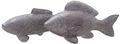 Fisch Deko Figur Silber Grau Weiß Glänzend Dick Lang Tischdeko Maritim Deko 2 Stück 1