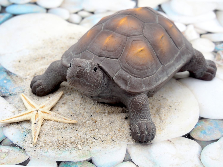 Schildkröte Deko Figur BraunTerrasse Balkon Maritime Deko Tischdeko