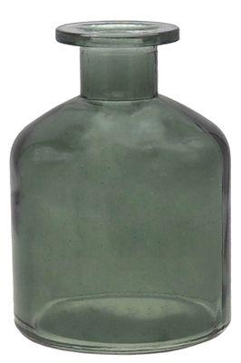 Vase Glas Glasvase Grün Dunkelgrün Blumenvase Deko Tischdeko 11cm