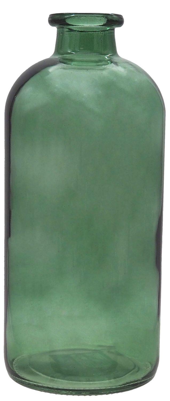Vase Deko Grün Tischdeko Blumenvase Glasvase 25 cm