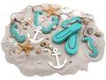 Tischdeko Maritim Streudeko MIX Sand Muscheln Anker Seesterne Zehentrenner Seepferdchen Türkis Deko 650g 1