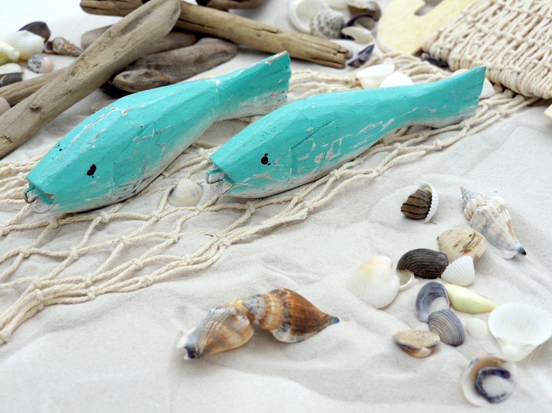 Tischdeko Maritim Streudeko MIX Sand Treibholz Muscheln Netz Fische Zehentrenner Türkis gestreift Deko 650g