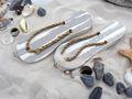 Tischdeko Maritim Streudeko MIX Maritim Sand Muscheln Seesterne Steine Fische Grau Zehentrenner gestreift Deko 650g 2