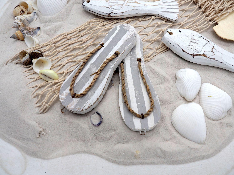 Streudeko Maritim MIX Tischdeko Sand Muscheln Netz Fische Weiß Zehentrenner Grau gestreift Deko 650g