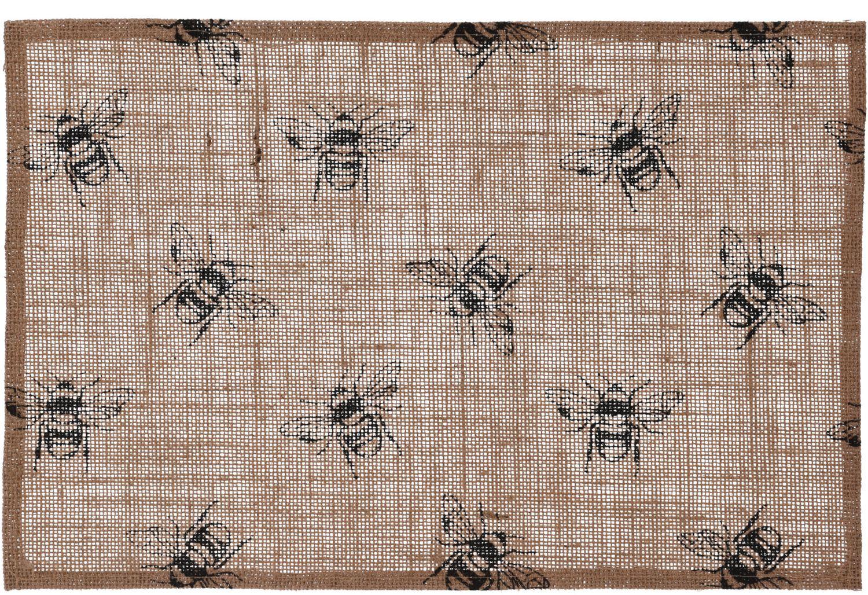 Platzset Biene Tischset Tischdecke Platzdecke Gedeckunterlage Baumwolle Vintage