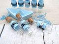 Glasröhrchen Gastgeschenke Blau Fisch Tischdeko Kommunion Konfirmation Taufe 8 Stück 3
