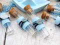Glasröhrchen Gastgeschenke Blau Fisch Tischdeko Kommunion Konfirmation Taufe 8 Stück 4