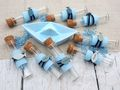 Glasröhrchen Gastgeschenke Blau Fisch Tischdeko Kommunion Konfirmation Taufe 8 Stück 2