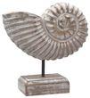 Figur Muschel auf Ständer Ammonit Aufsteller Tischaufsteller Holz Weiß Tischdeko Maritime Deko 1