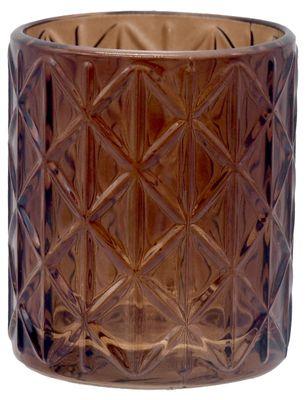 Windlicht Braun Raute Mosaik Retro Teelichthalter Tischdeko Deko Garten Terrasse