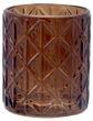 Windlicht Braun Raute Mosaik Retro Teelichthalter Tischdeko Deko Garten Terrasse 1