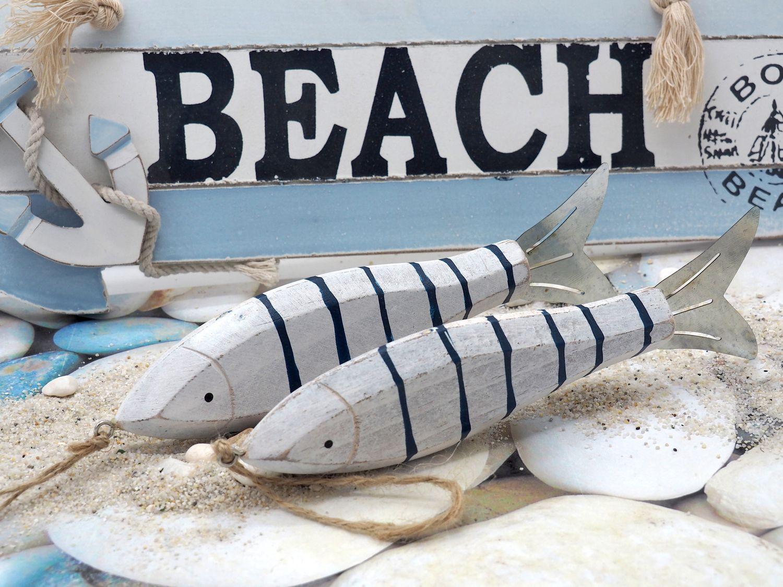 Maritime Deko Fisch Anhänger Hängedeko Wanddekoration